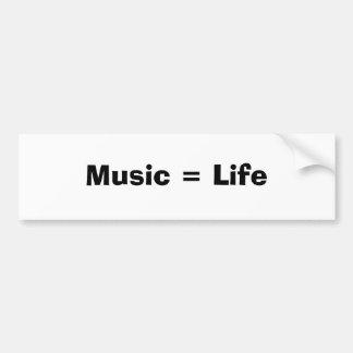 Music = Life Bumper Sticker