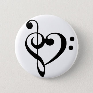 Music Love 2 Inch Round Button