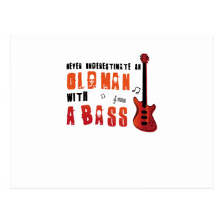 Music Lover Bass Guitar Gifts Old Man With A Bass Postcard