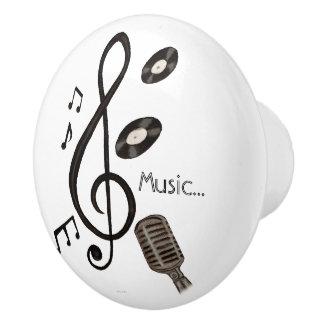 Music Lover Ceramic Knob