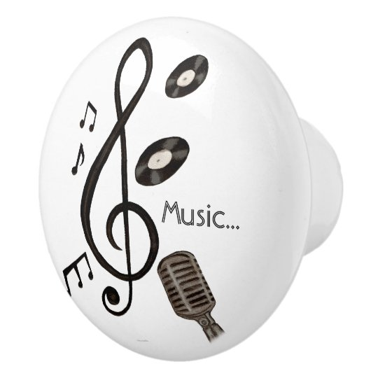 Music Lover Ceramic Knob