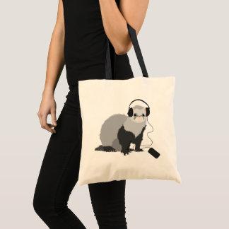 Music Lover Ferret Tote Bag