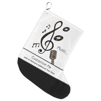 Music Lover Large Christmas Stocking