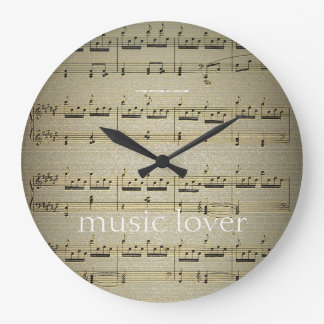 Music  Lover Large Wall Clock