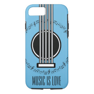 Music Lover | Musical Notes | Guitar iPhone 8/7 Case