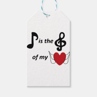 Music lover pack of gift tags