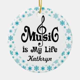 Music Lover Personalized Christmas Gift Ceramic Ornament