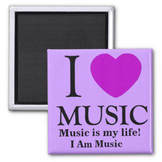 Music Lover_ Square Magnet
