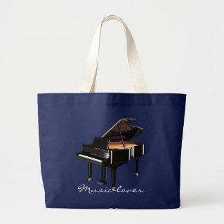 MUSIC-LOVER Theme Grand Piano Gift Tote