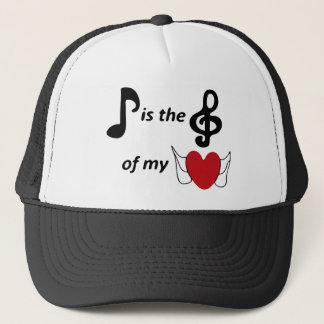 music lover trucker hat