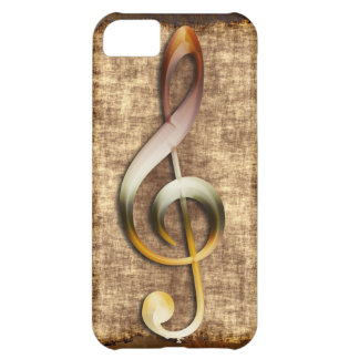 Music-lover's Antique Treble Clef Phone Case
