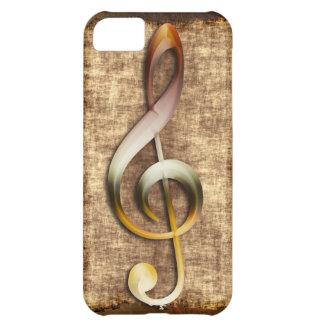 Music-lover's Antique Treble Clef Phone Case iPhone 5C Cover