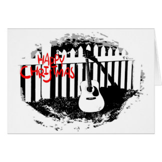 Music Lovers Christmas -Acoustic Guitar Christmas Card