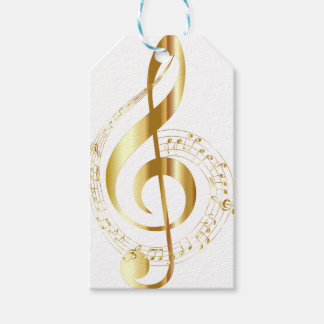 Music lovers giftwrap pack of gift tags