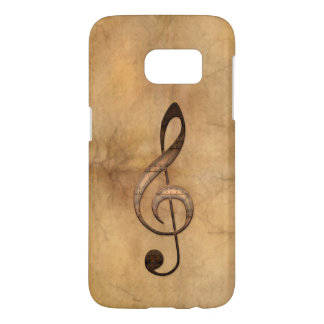 Music-lover's Metal-look Treble Cleff Samsung Case