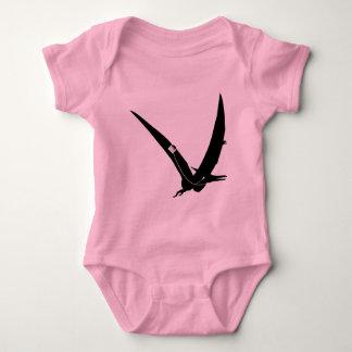 Music loving Pterodactyl dinosaur design Baby Bodysuit