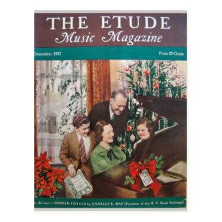 Music Magazine, 'The Etude' December 1937 Postcard