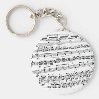 Music Major/Student/Teacher Basic Round Button Keychain