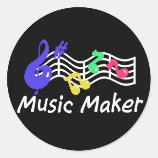 Music Maker Classic Round Sticker