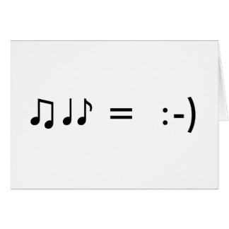 """""""Music Makes Me Happy"""" Get Well Card"""