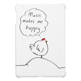 Music makes me happy iPad mini cases