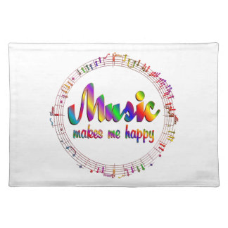 Music Makes Me Happy Placemat