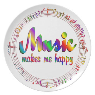 Music Makes Me Happy Plate
