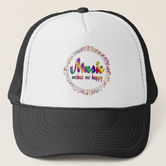 Music Makes Me Happy Trucker Hat