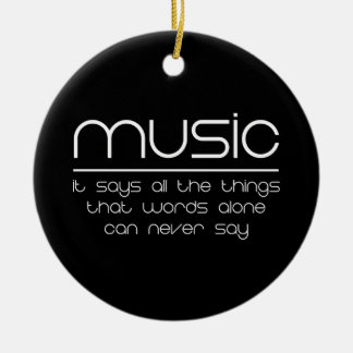 Music Makes My World Go Round Ceramic Ornament