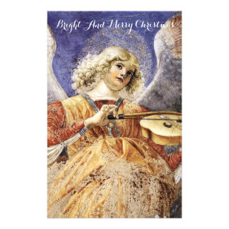 MUSIC MAKING ANGEL Christmas Greetings Personalized Stationery