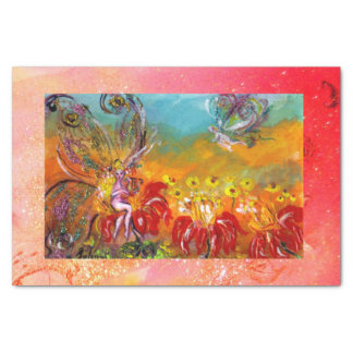 MUSIC MAKING FLOWER FAIRY Floral Fantasy Pink Tissue Paper