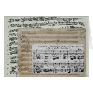 Music Manuscripts Card