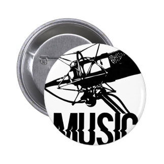 music microphone 2 inch round button