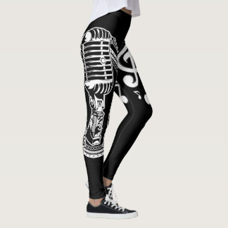 Music Microphone and Notes Leggings