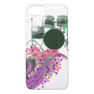 Music Montage 2 Fuschia Colorful iPhone 7 case