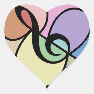 Music Mosaic Heart Sticker