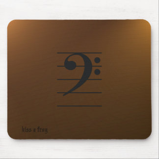 Music Mousepad - bass clef