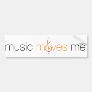 Music Moves Me™ Bumper Sticker