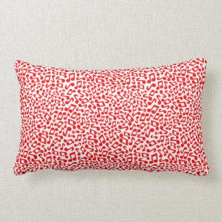 Music Music Music in Red Lumbar Pillow