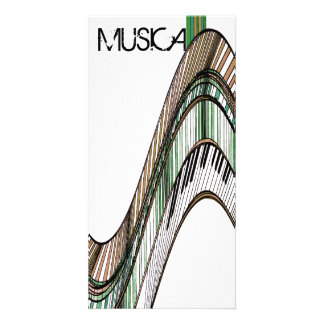 Music Musical Keyboards Piano Gift Card Photo Cards