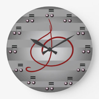 Music Musical Notes Treble Clef Musicians Clock