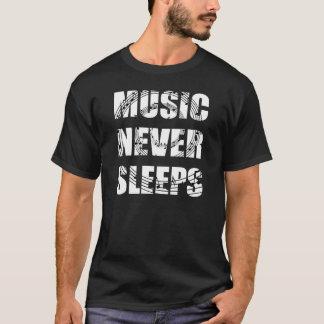 Music Never Sleeps Dark Shirt