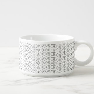 Music Nordic Knit Text ASCII Art Black and White Chili Bowl