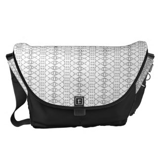 Music Nordic Knit Text ASCII Art Black and White Commuter Bags