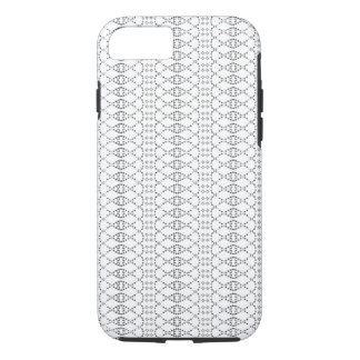Music Nordic Knit Text ASCII Art Black and White iPhone 8/7 Case