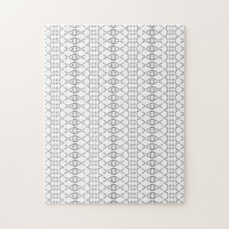 Music Nordic Knit Text ASCII Art Black and White Jigsaw Puzzle