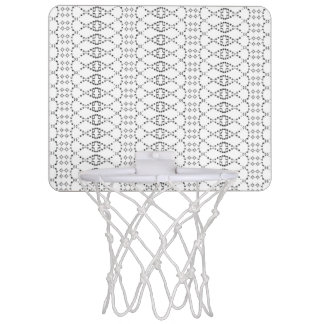 Music Nordic Knit Text ASCII Art Black and White Mini Basketball Hoop
