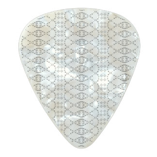 Music Nordic Knit Text ASCII Art Black and White Pearl Celluloid Guitar Pick