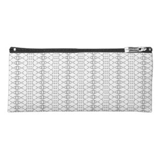 Music Nordic Knit Text ASCII Art Black and White Pencil Case