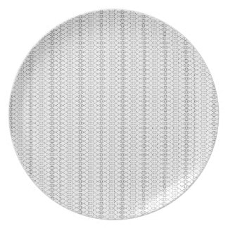 Music Nordic Knit Text ASCII Art Black and White Plate